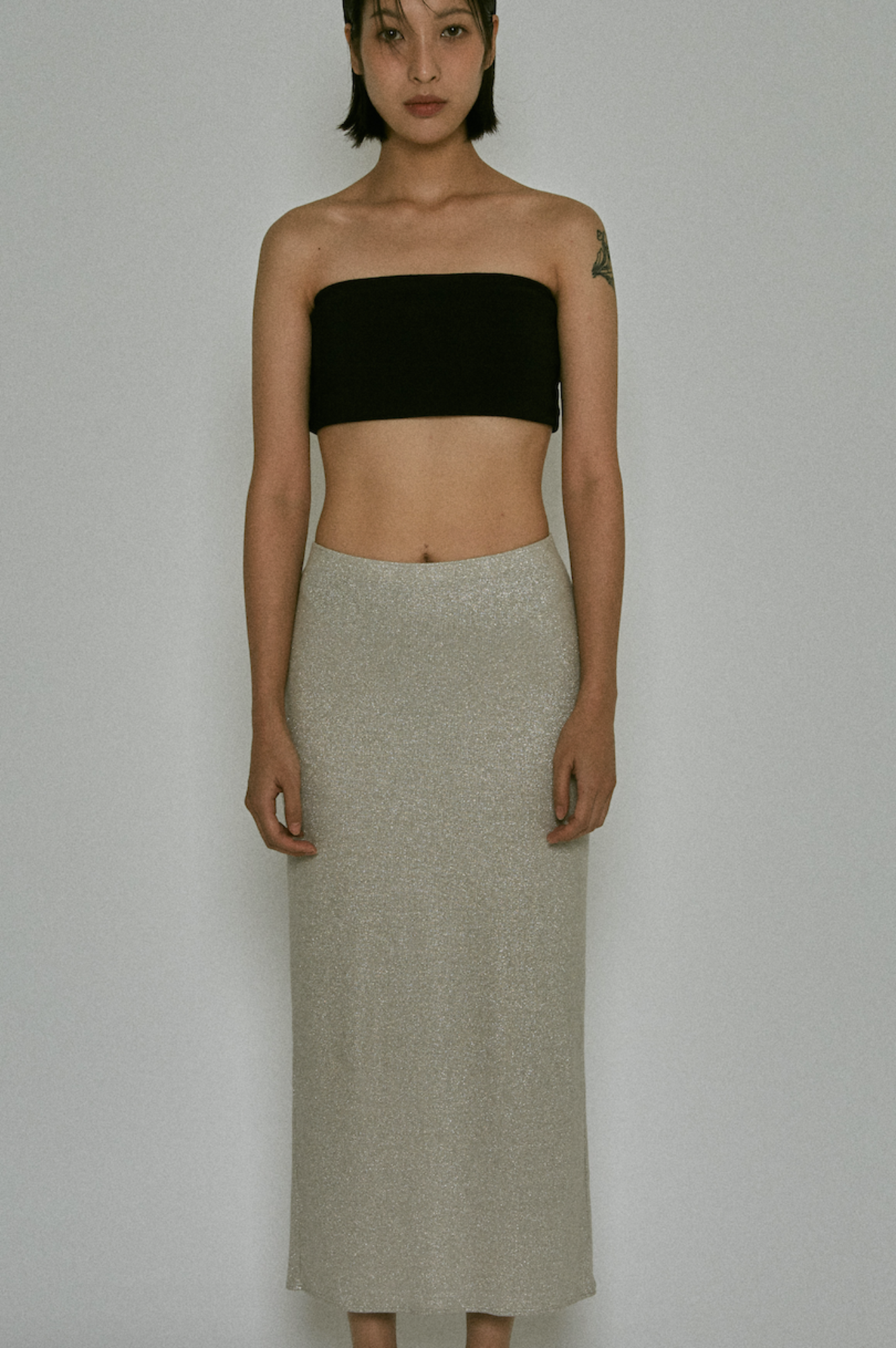 Viscose Epitome Skirt (Silver)